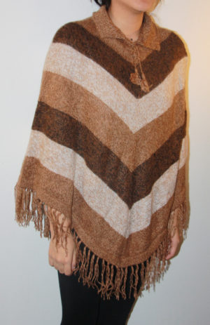 Alpacka poncho brun